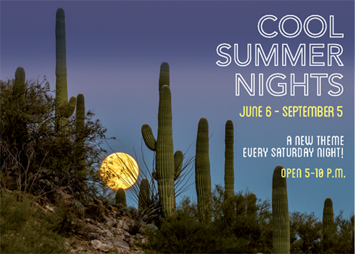 Cool Summer Nights - June 6 to September 5 2015 - a new theme every Saturday Night! Open 5-10 p.m.